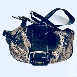 Guess Hobo Purse Brown with Heavy Buckle